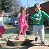 Stepping stones - outdoor play at the Day Nursery